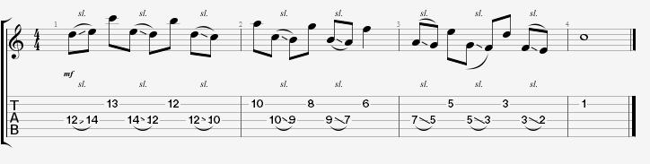 Guitar understanding guitar tabs : Cool Licks: 6th Intervals In C Major | Guitar Lessons @ Ultimate ...