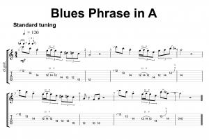Blues Phrase in A #1